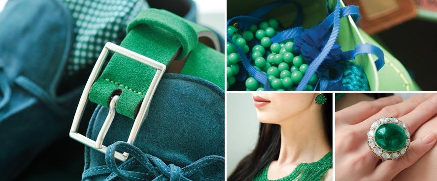 e05e6f33177 Zelená je ale také barvou antických bonyň lásky Afrodíté a Venuše! Snoubí v  sobě energickou žlutou a klidnou modrou