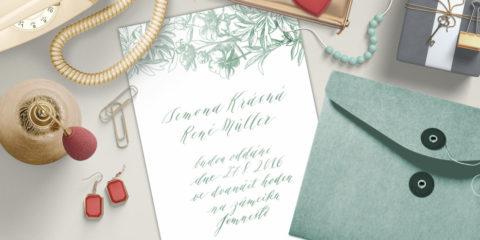 851b428b6dc Překvapte své hosty ručně navrženými kaligrafickými pozvánkami! Renáta  Gebauerová je vytvoří přímo vám na míru