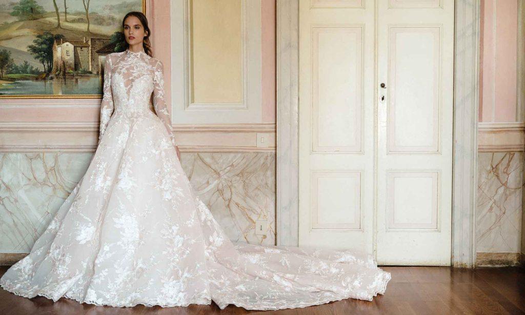 Svatební šaty Monique Lhuillier podzim 2020