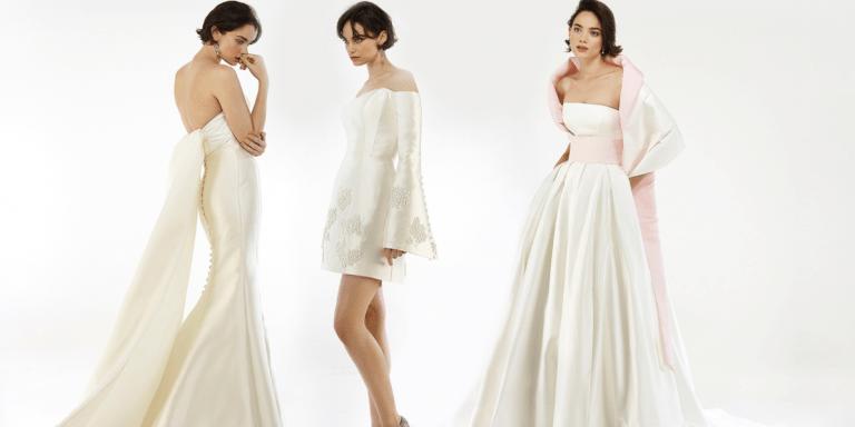 Kolekce krajkových svatebních šatů Marchesa pro podzim a zimu 2020 se inspirovala ikebanou