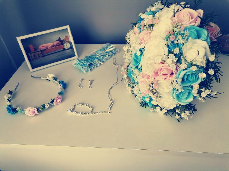 Svatební detaily, svatební kytice