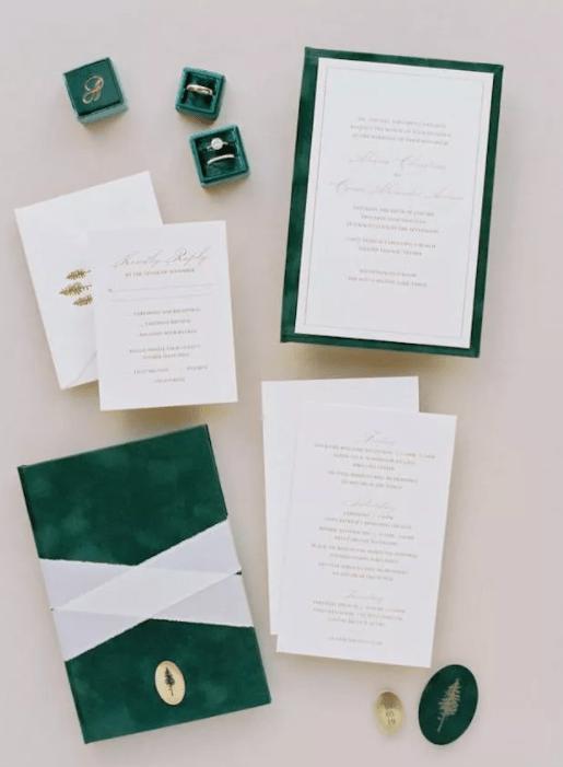 Svatební zimní pozvánky