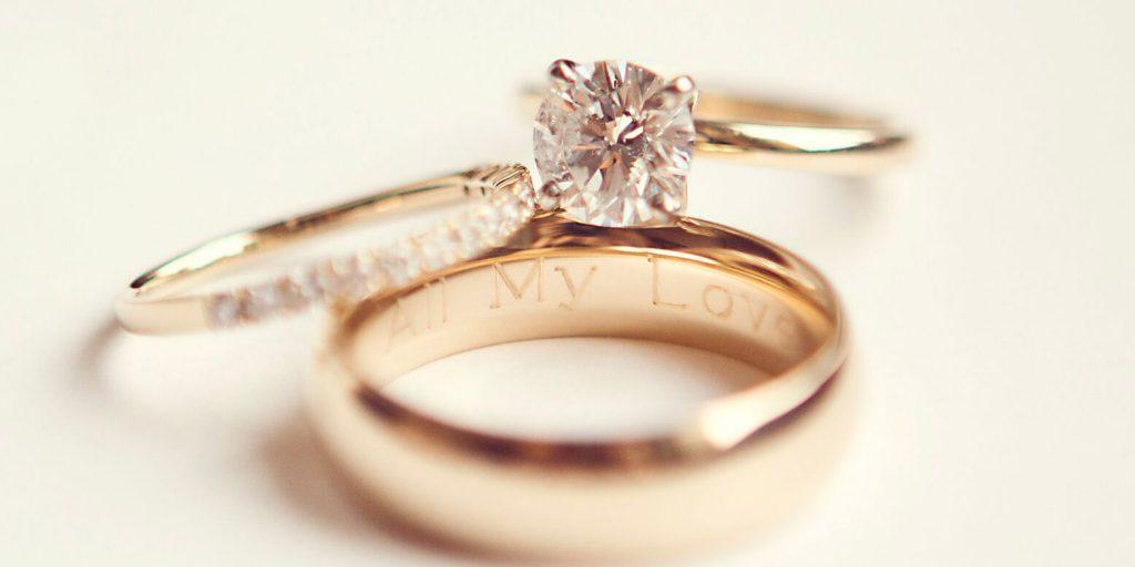 Snubní prsten gravírování