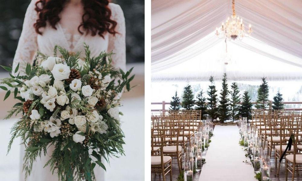 barva zimní svatba 2021
