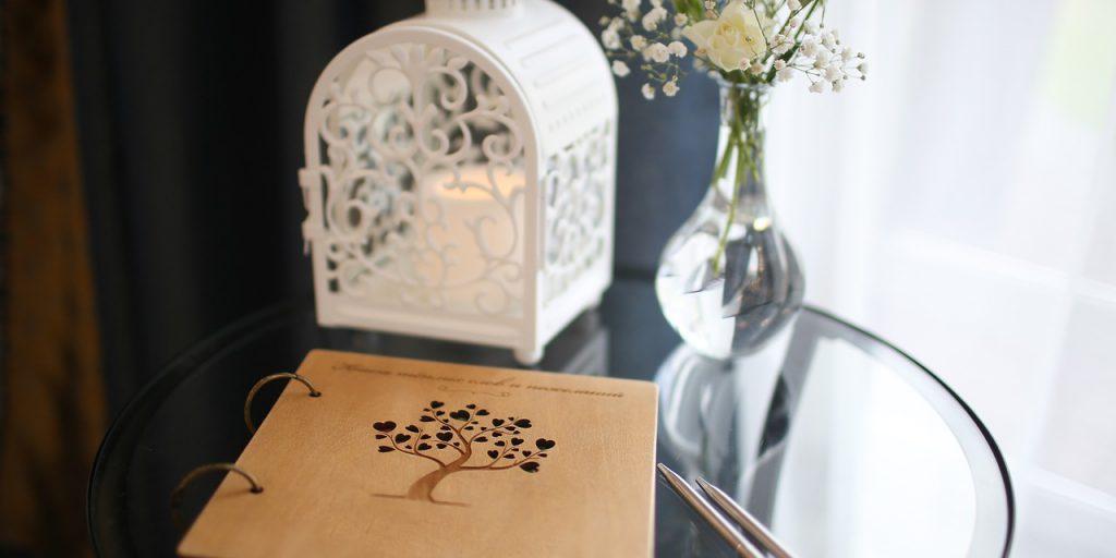 Svatební vzpomínka, kniha hostů