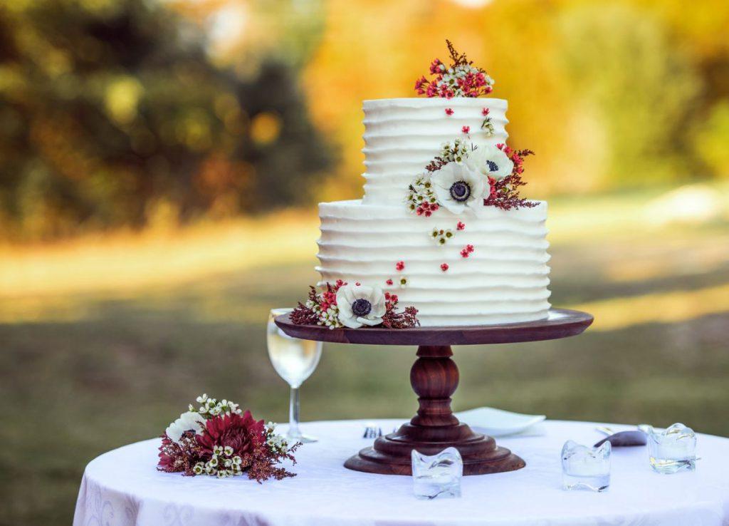 Svatební dort, polevy na svatební dort
