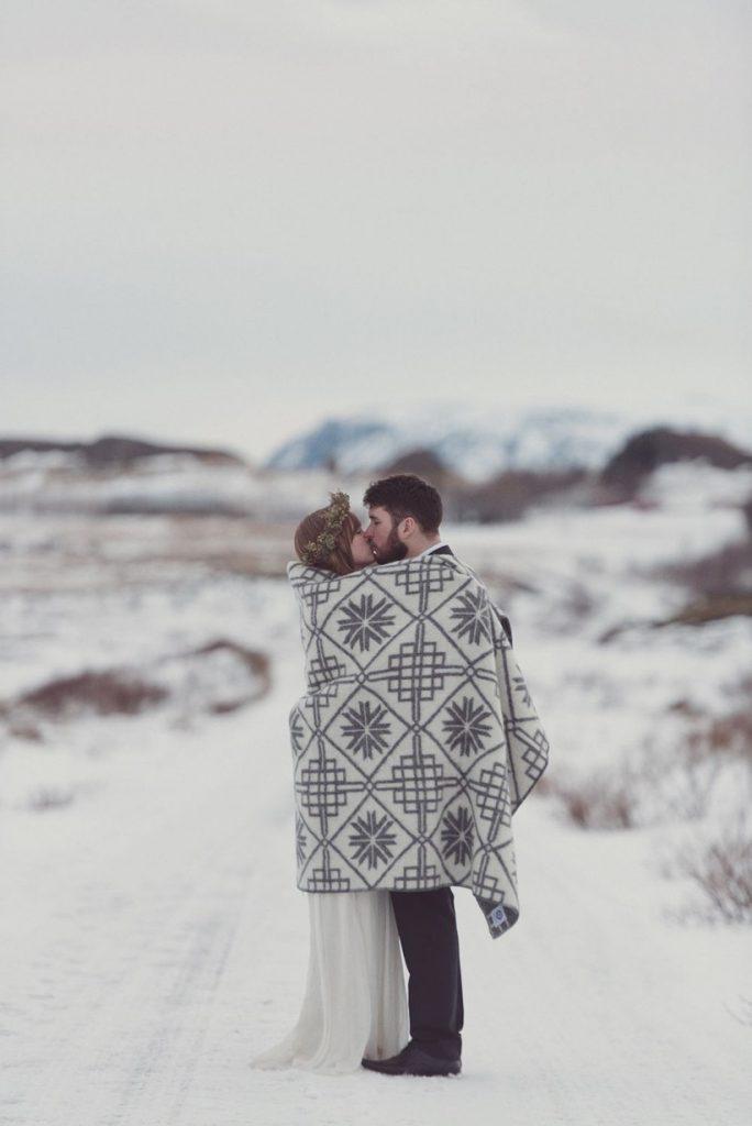 Svatba v zimě.