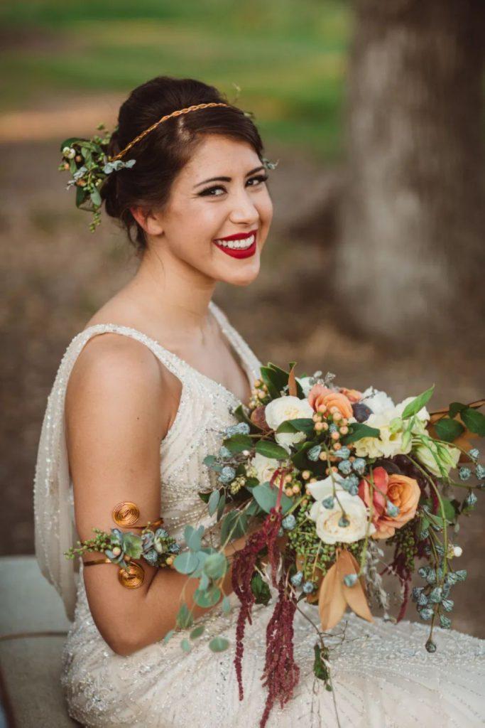 Secesní svatba, vintage nevěsta.