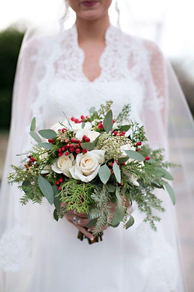 Vánoční svatební kytice