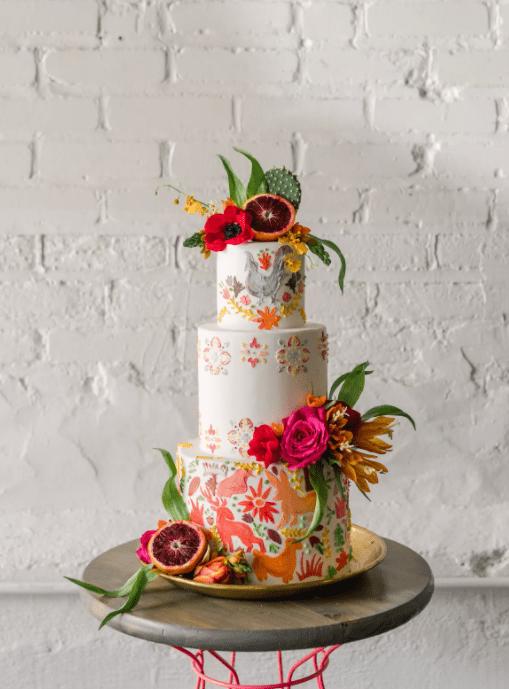 svatební dort sukulenty