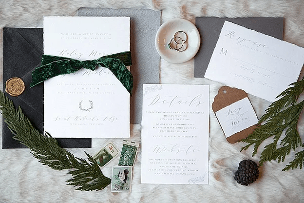 Zimní svatební pozvánky, svatební oznámení.