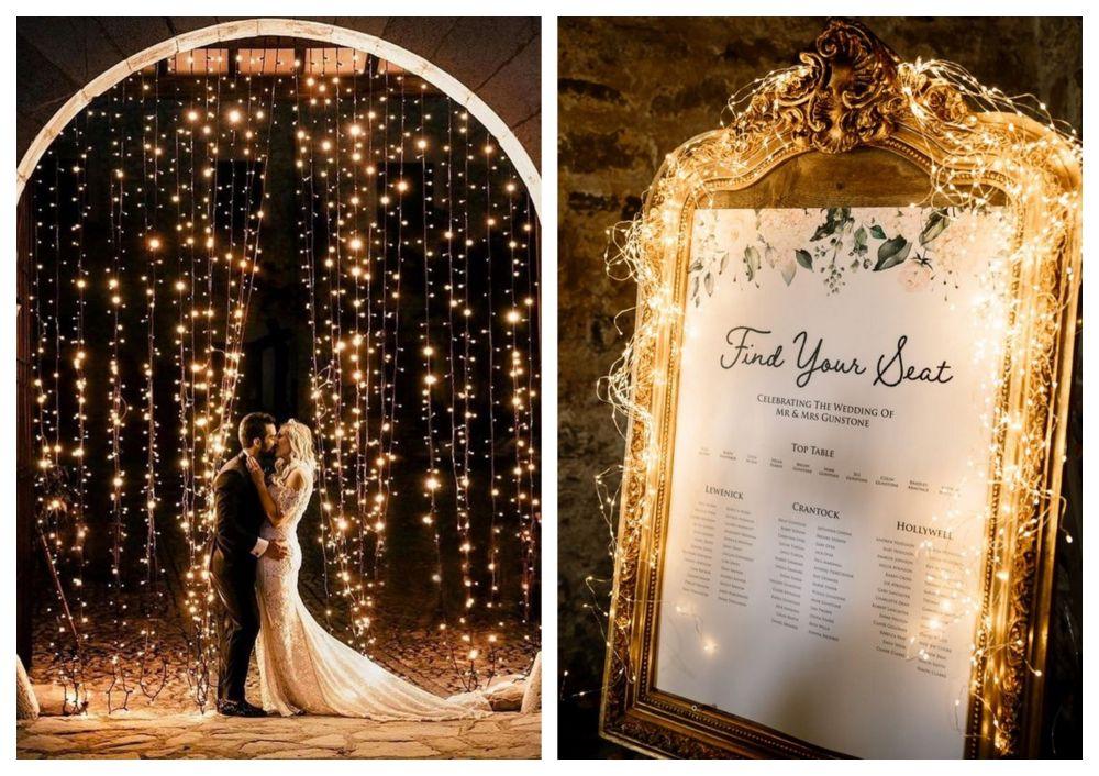 Vánoční světýlka na svatbu