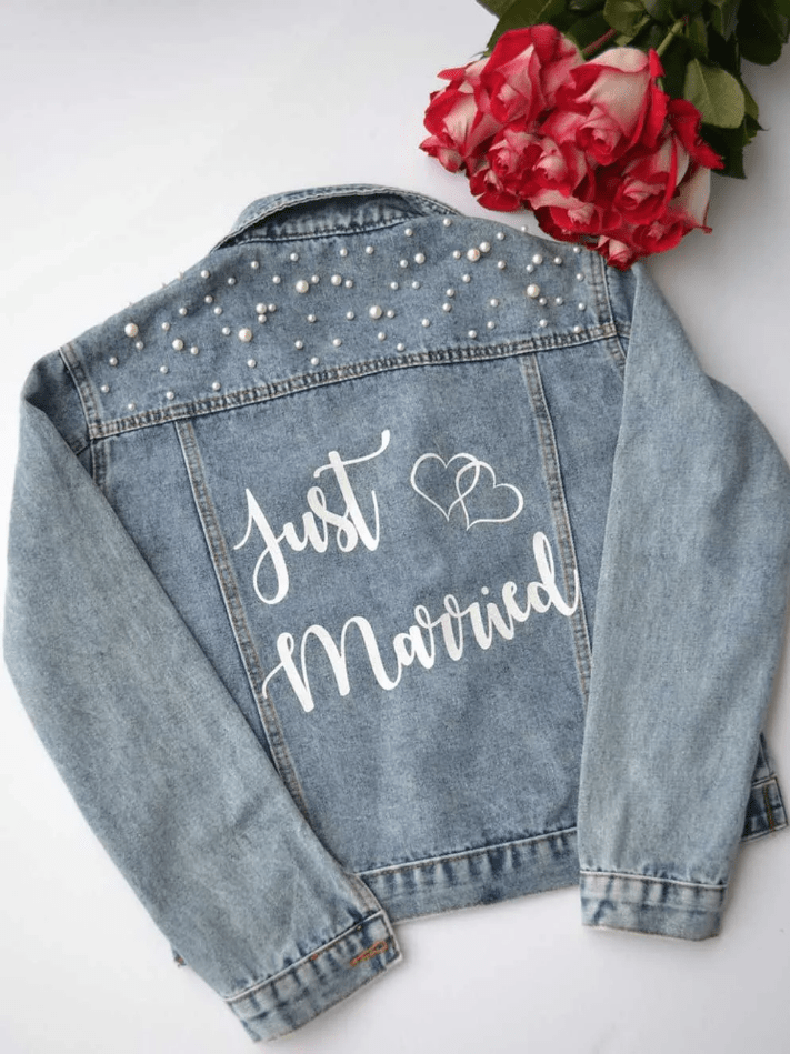 Džínová bunda pro nevěstu