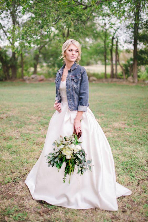 Riflová bunda na svatbu
