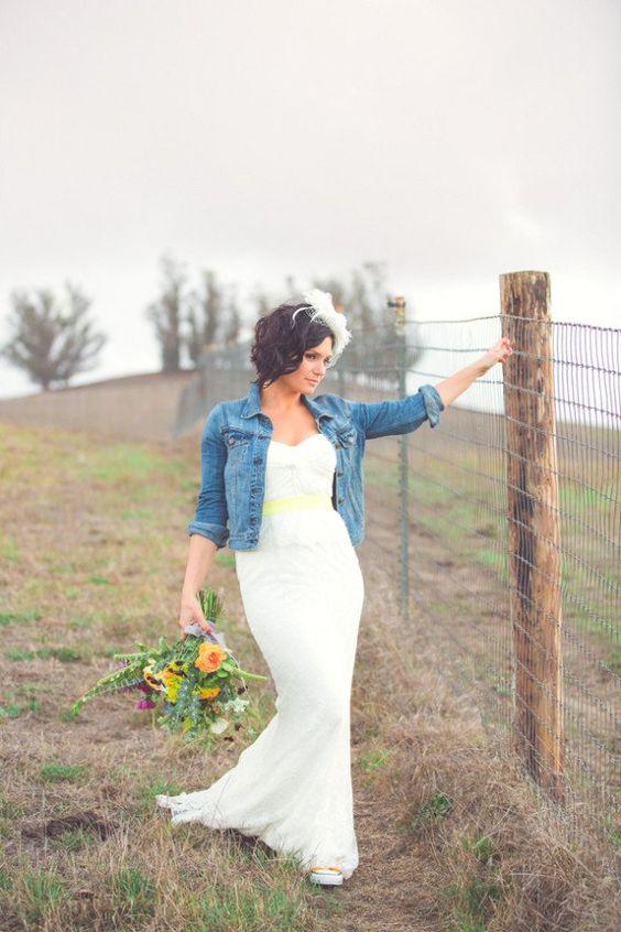 Riflová bunda pro nevěstu