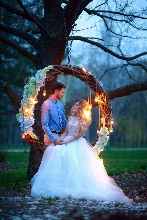 Svatební fotografie, svatební houpačka