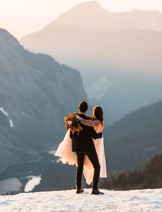 Neobvyklé svatební fotky