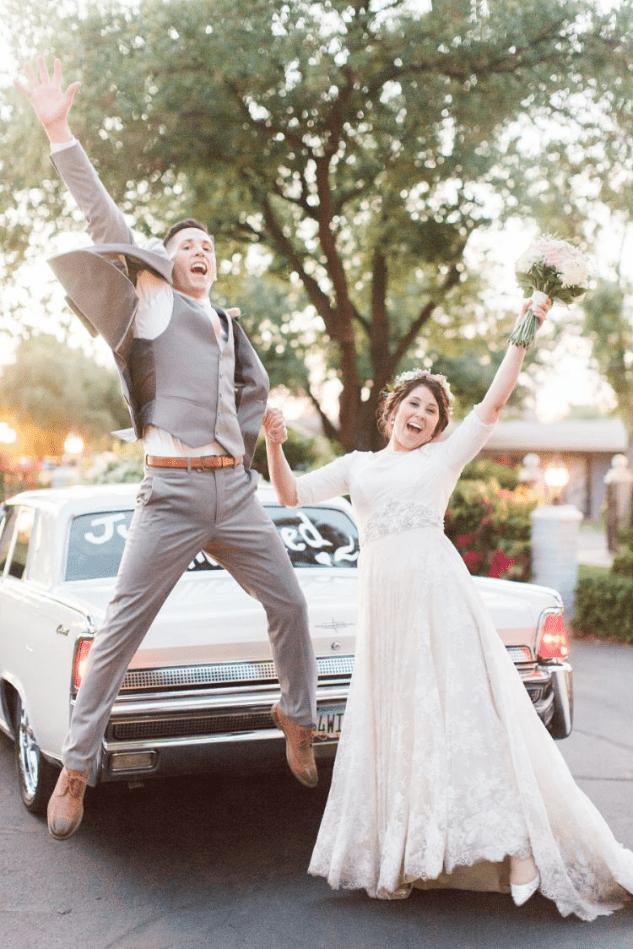 Vtipné svatební fotky novomanželů