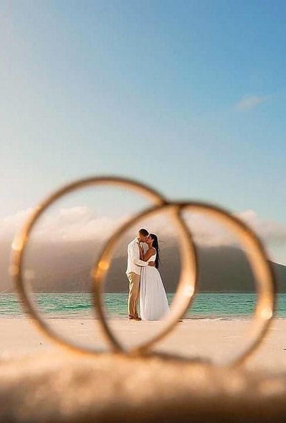 Svatební fotky novomanželů