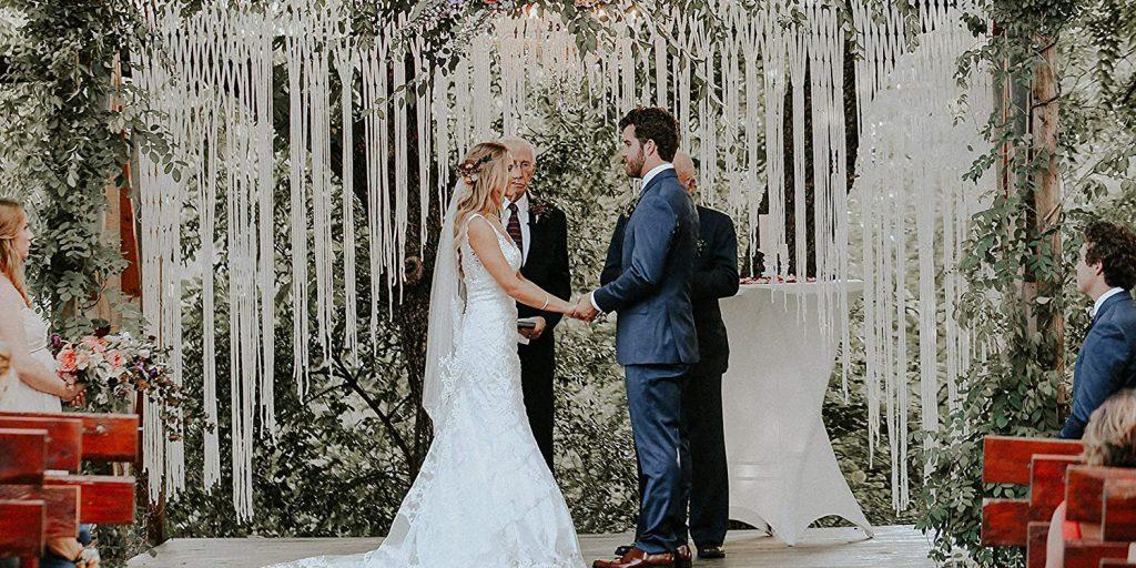 Macramé svatební dekorace, boho svatba