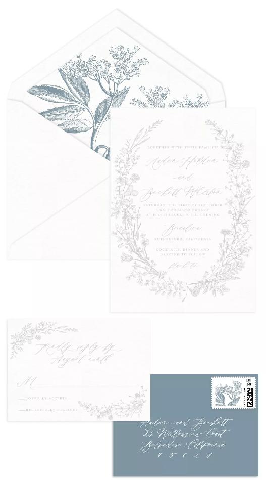 KVětinová svatební oznámení