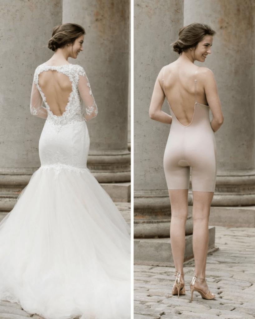 Stahovací spodní prádlo pod svatební šaty