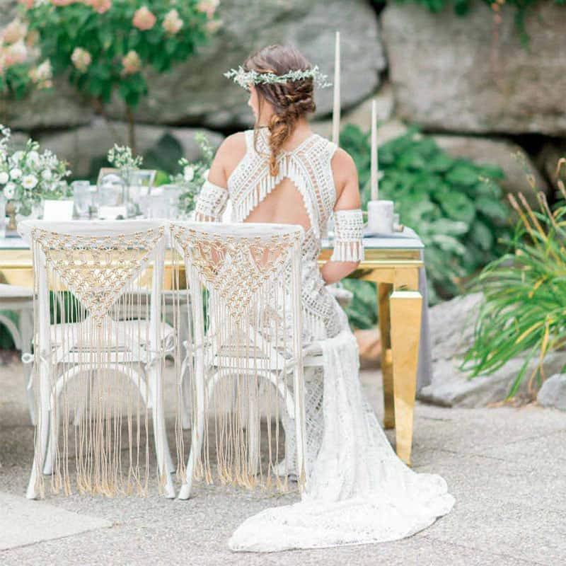 Svatební macramé dekorace, boho svatba