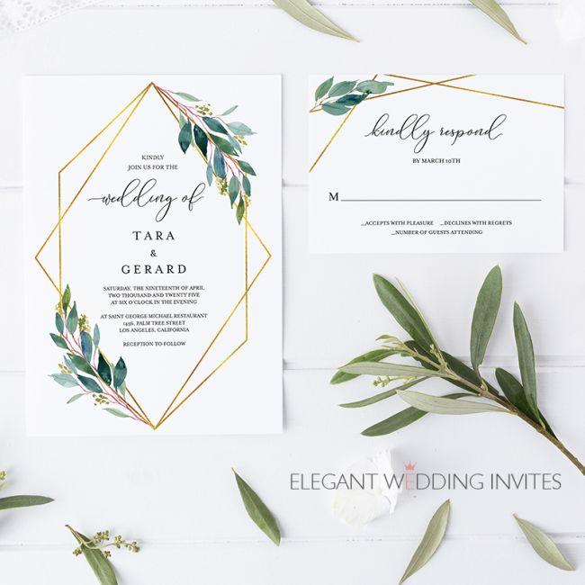 Svatební oznámení se zelení