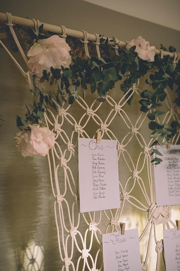 Svatební macramé dekorace, drhané dekorace na svatbu, boho svatba, venkovská svatba, boho-chic