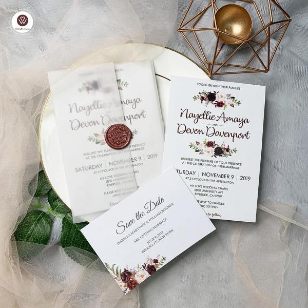 Květinové svatební poznámky