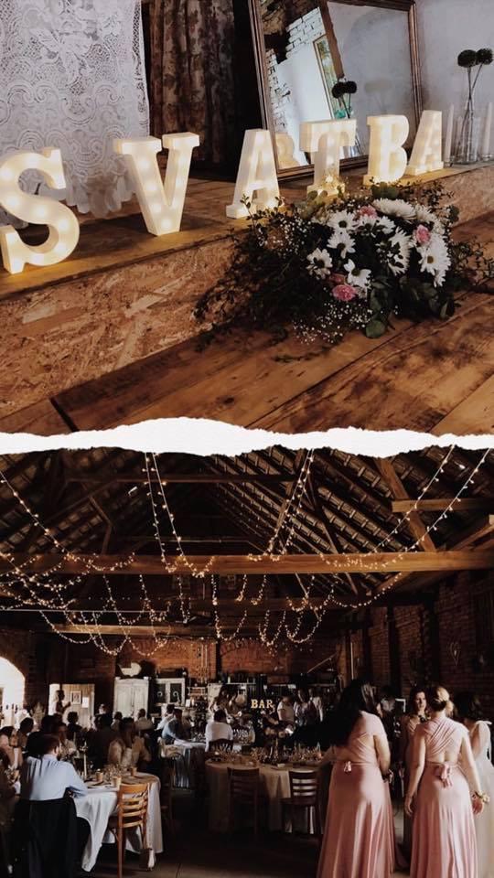 Světelné řetězy na svatbu