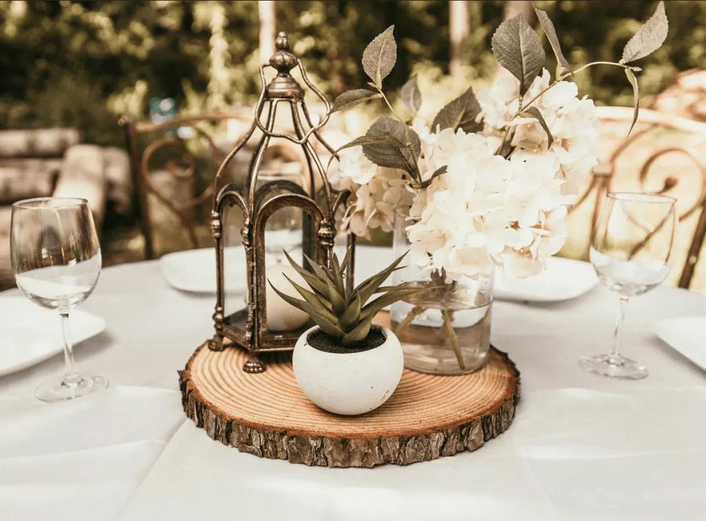 Dřevěné svatební doplňky