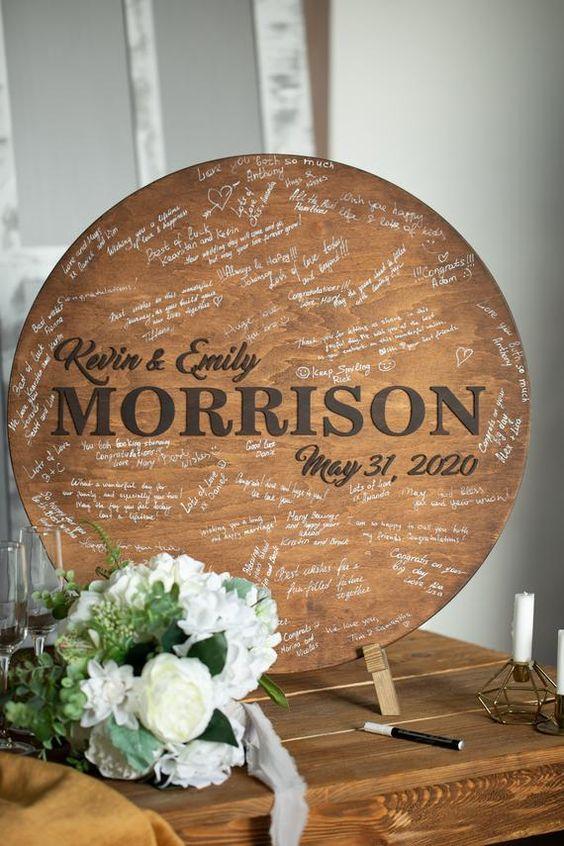 Dřevěné svatební detaily