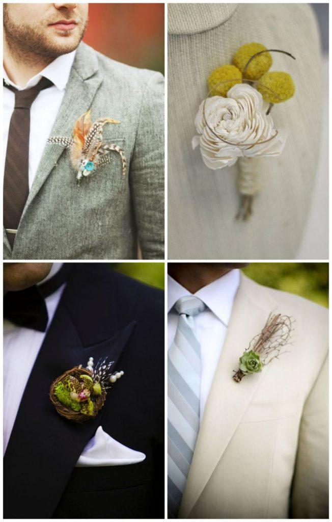 Kytičky do klopy pro ženichy