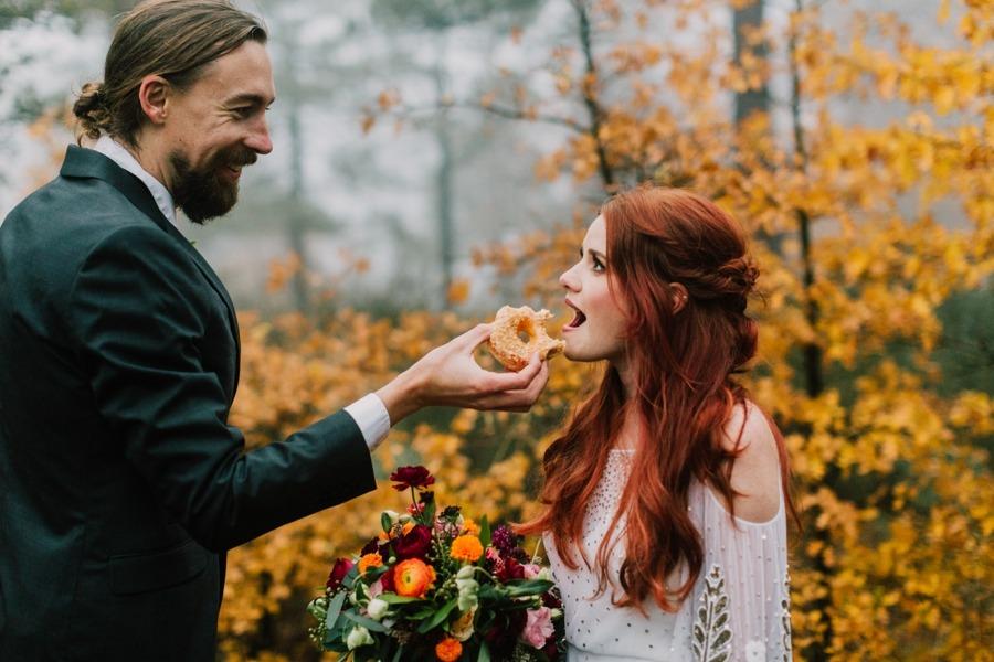 Donuty na svatební stůl