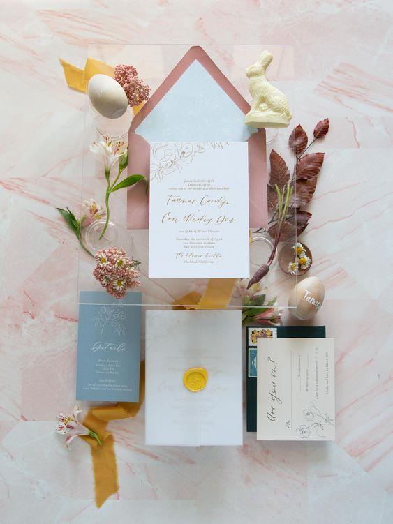 Velikonoční svatební pozvánky