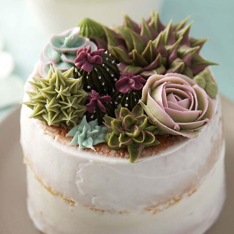 Svatební dorty se sukulenty
