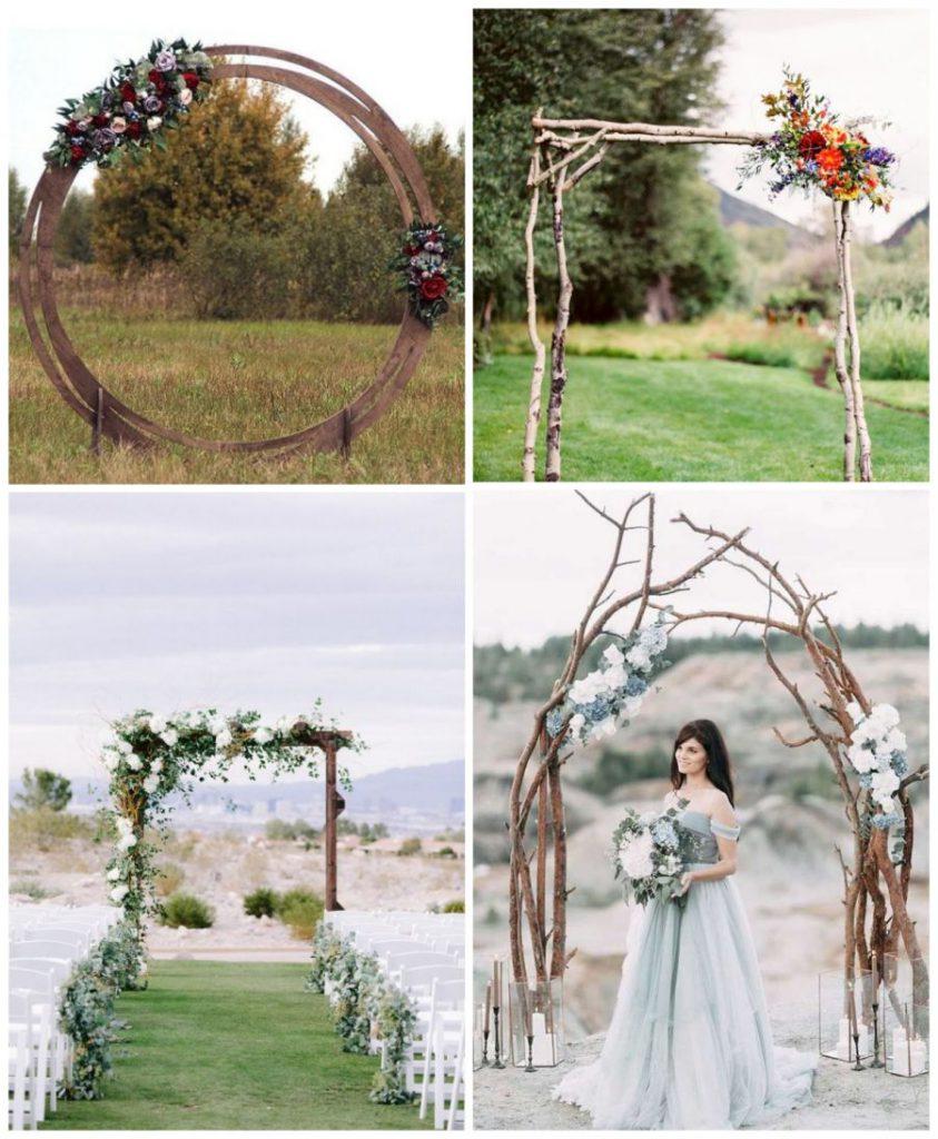 Dřevěné svatební slavobrány