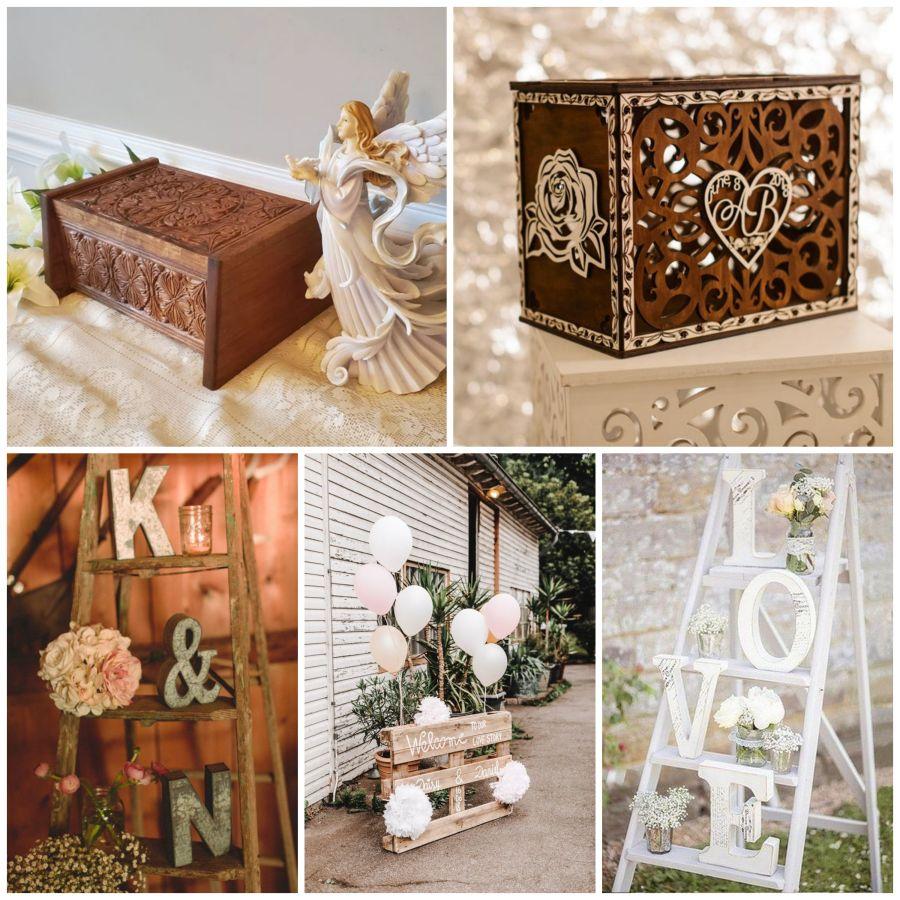 Svatební dekorace ze dřeva