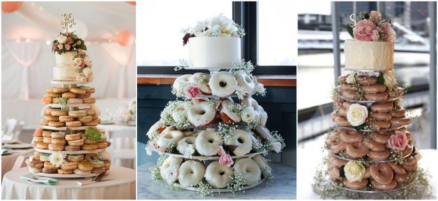 Donutový svatební dort