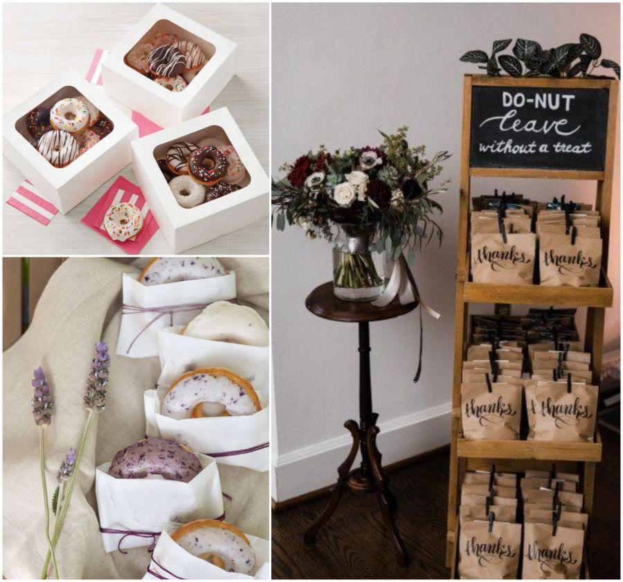 Donuty jako dárky pro svatební hosty