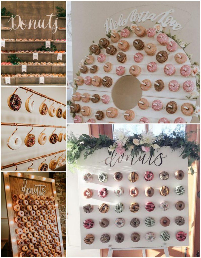 Donut wall, stěna na donuty na svatbě