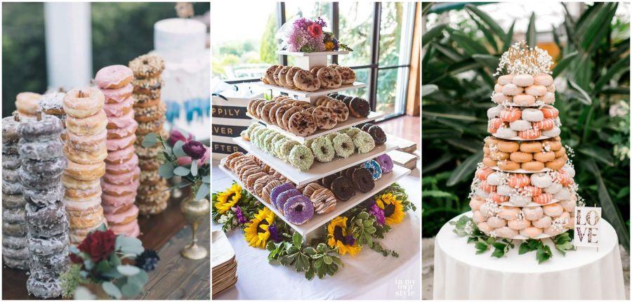 Svatební donuty barevné