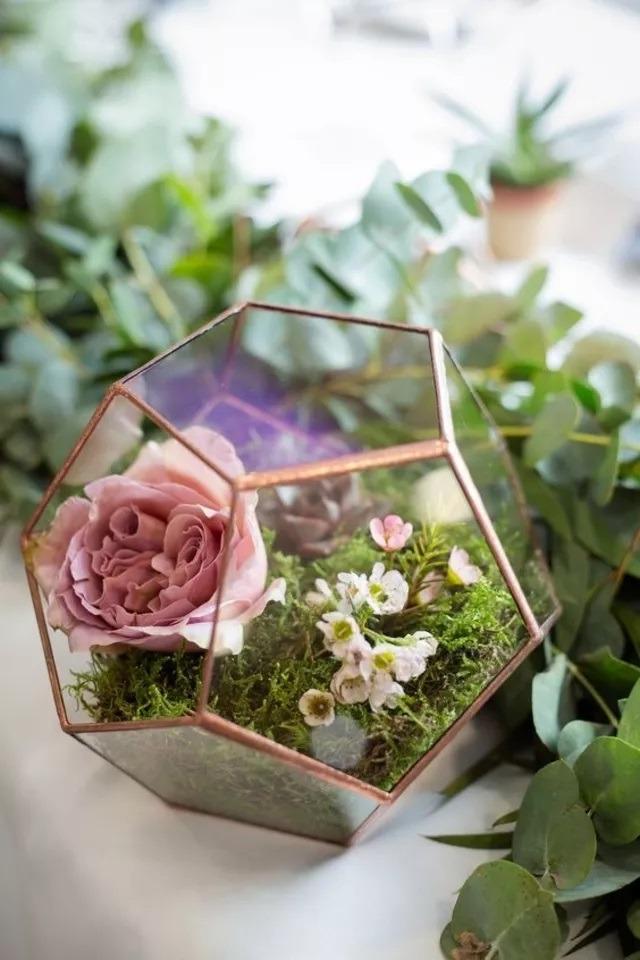 Florárium, svatební dekorace