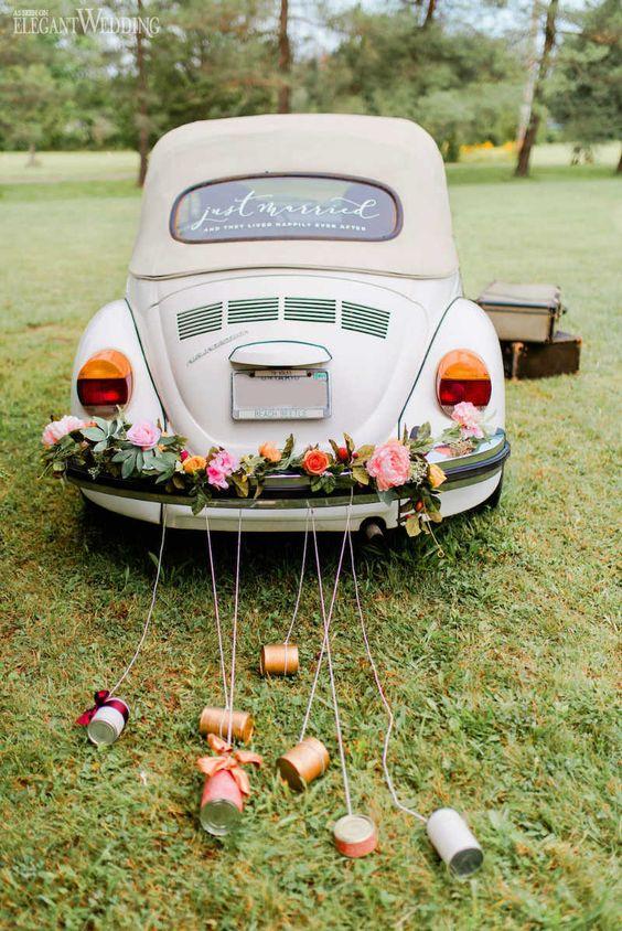 Výzdoba svatebních aut