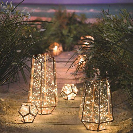 Svatební dekorace, led světýlka na svatbu