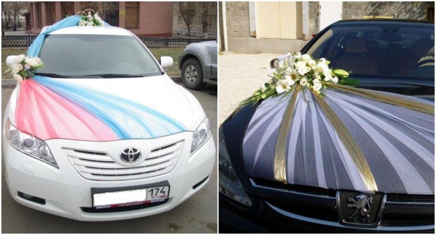 Výzdoba na auto pro nevěstu