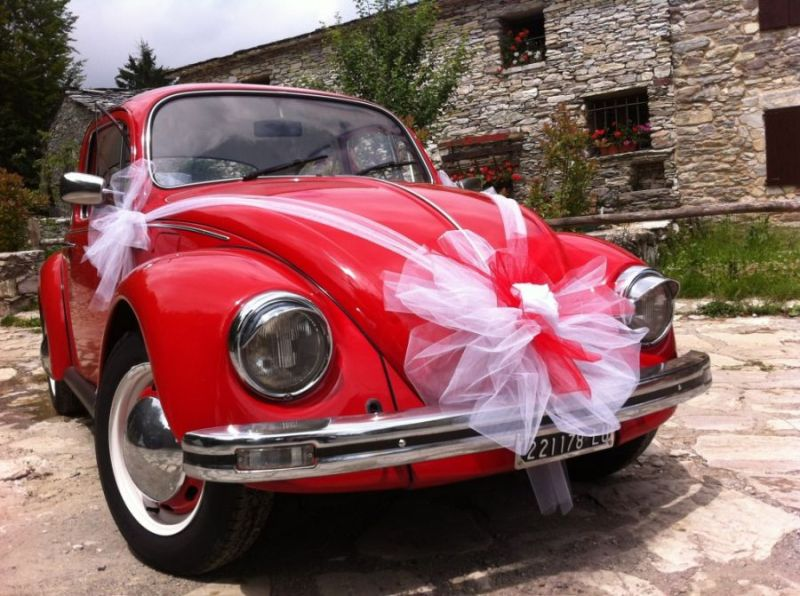 Výzdoba na svatební auto - stuhy