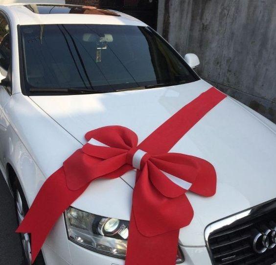 Mašle na auto pro nevěstu