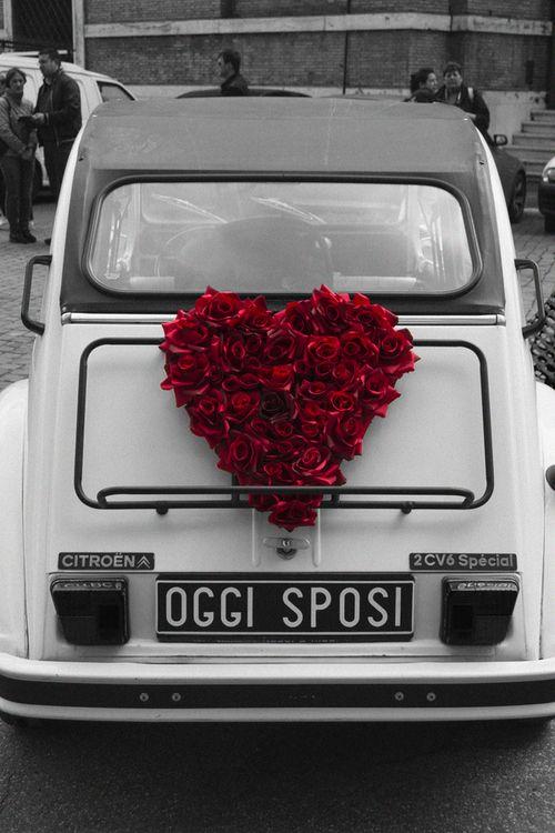 Svatební auto, výzdoba, dekorace